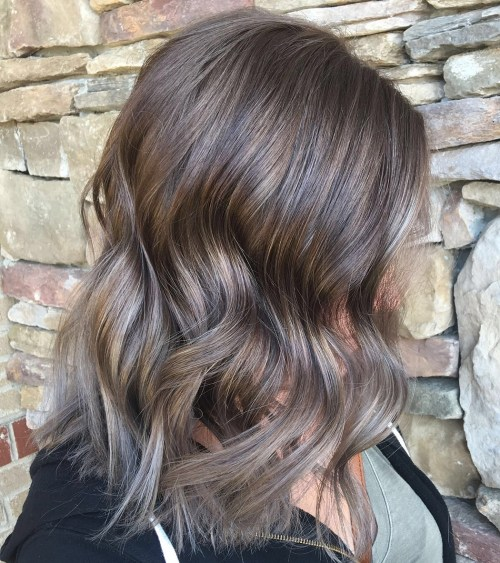 Mushroom Brown Hair With Gray Ombré