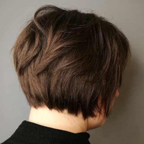 Short Bob For Women Over With A Round Face
