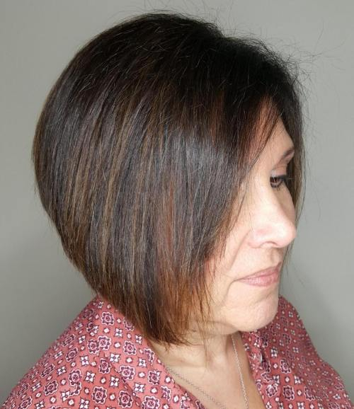A-Line Bob For A 50-Year-Old Woman