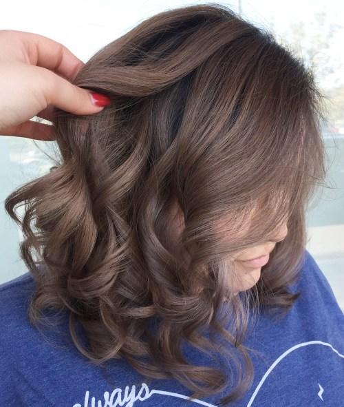 Mushroom Brown Hair With Violet Hues