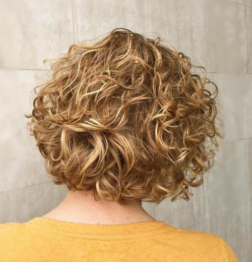 Honey Blonde Curly Bob