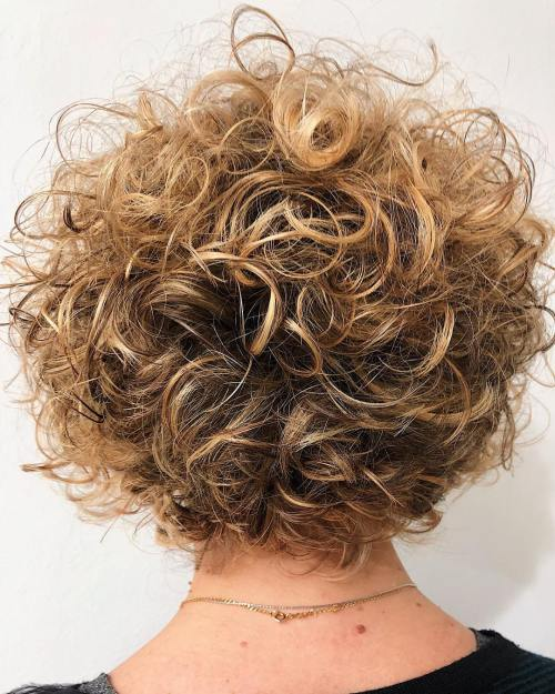 Short Hairstyle For Thinning Curly Hair