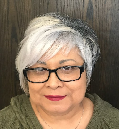 50+ Silver Pixie For Round Faces