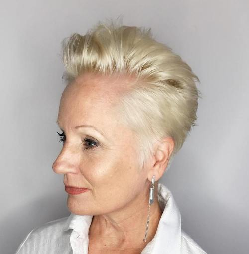 Tapered Blonde Pixie For Fine Hair
