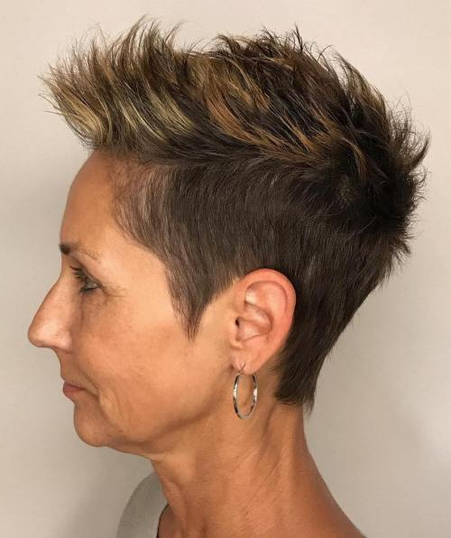 Pixie Undercut With Spiky Razored Top
