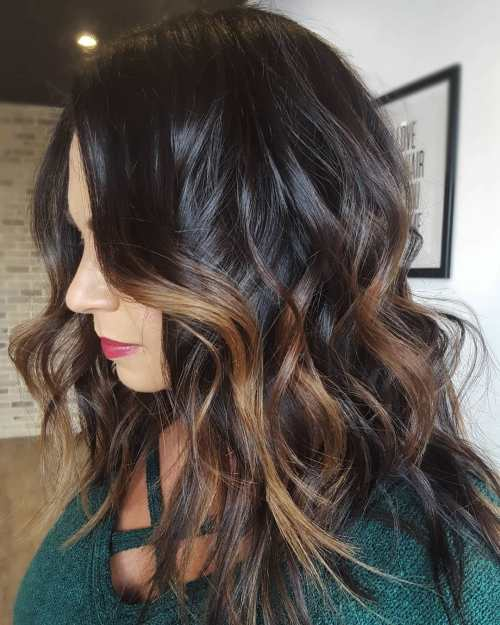 Dark Warm And Wavy Hairstyle