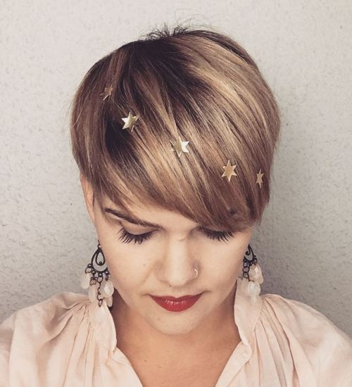 Pixie Cut And Star Stickers