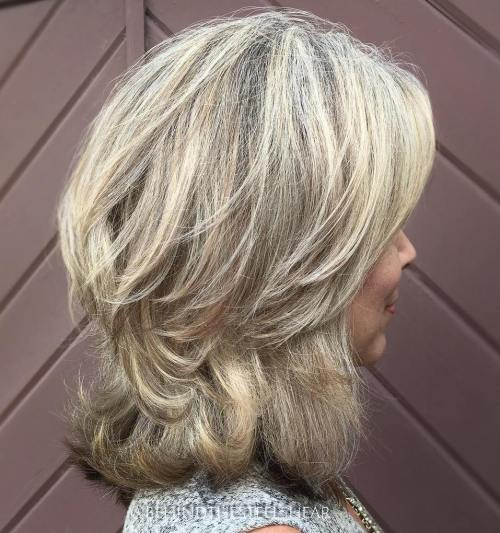 Shoulder-Length Two-Tier Cut for Thick Hair