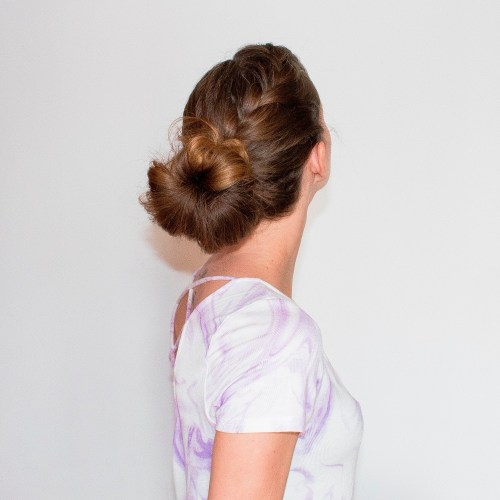 French Braid Into Bun