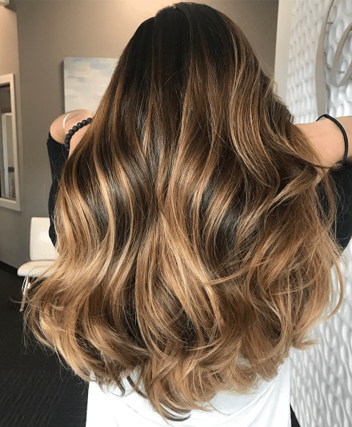 Honey and Blonde Balayage for Brunettes