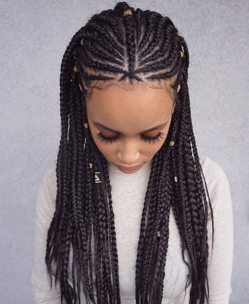 Fulani Braids with Beads and Cuffs