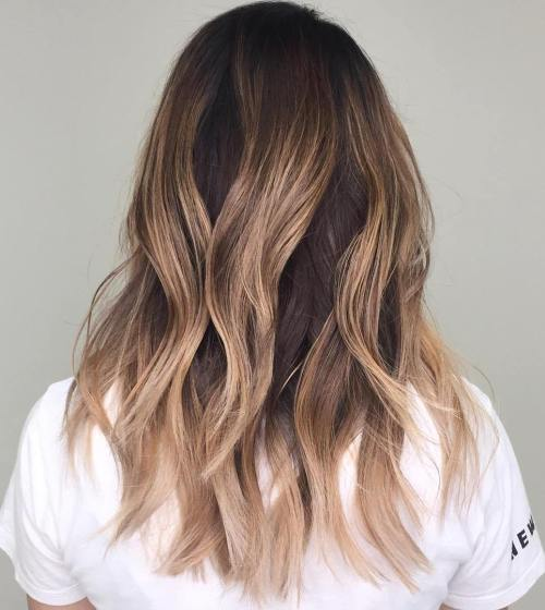Long Layered Ombre Style with Chunky Highlights