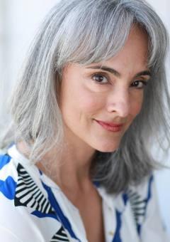 Natural Gray Shoulder Length Hairstyle