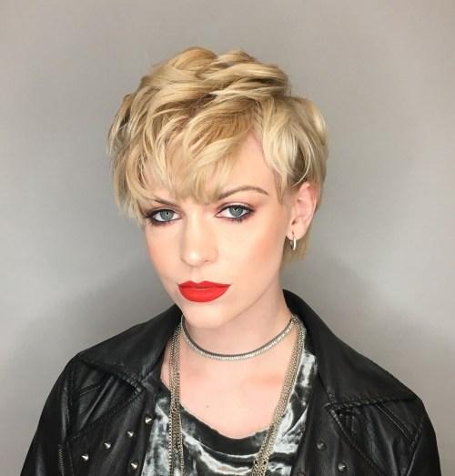Outgrown Blonde Textured Pixie