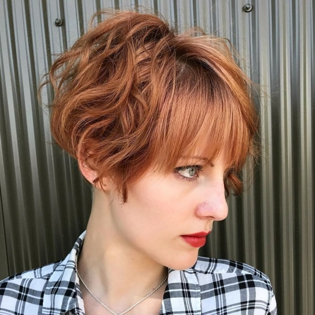 best short wavy hair with bangs ideas for 2019
