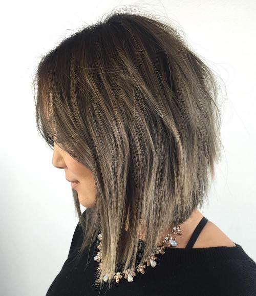 Ash Brown Bob Shag