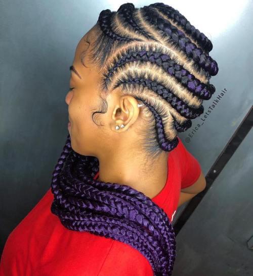 Purple Passion Chunky Braids
