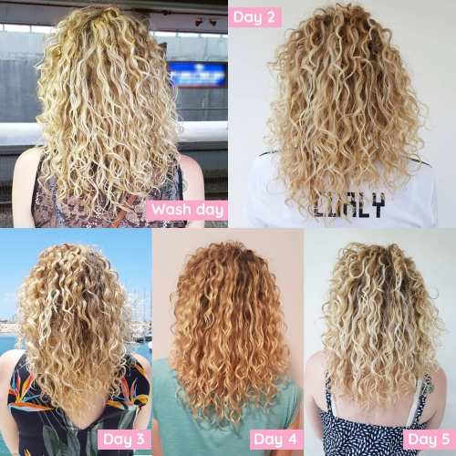 Styling Curls Process