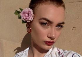 Buzz Cut With Pink Rose