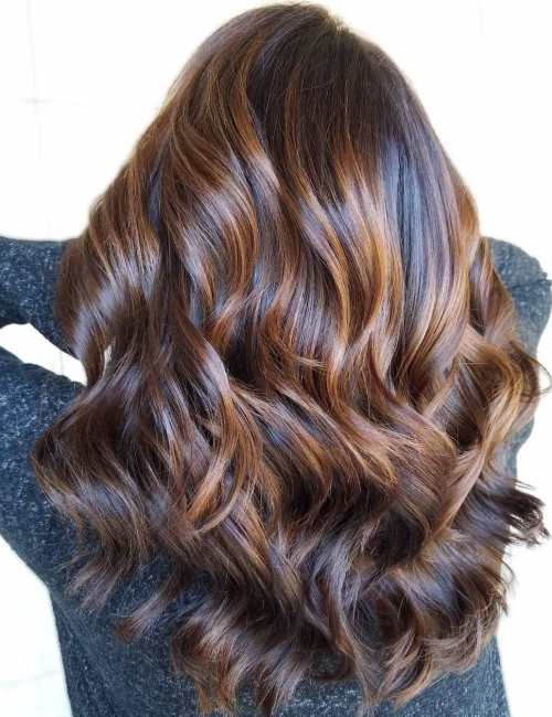Glazed Hair with Caramel Highlights