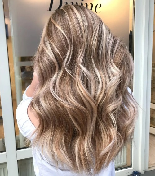 Milk Chocolate Hair with Blonde Highlights