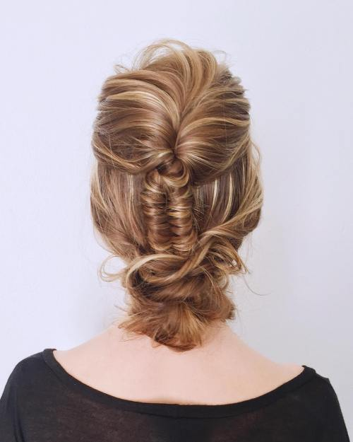 Updo With Infinity Braid