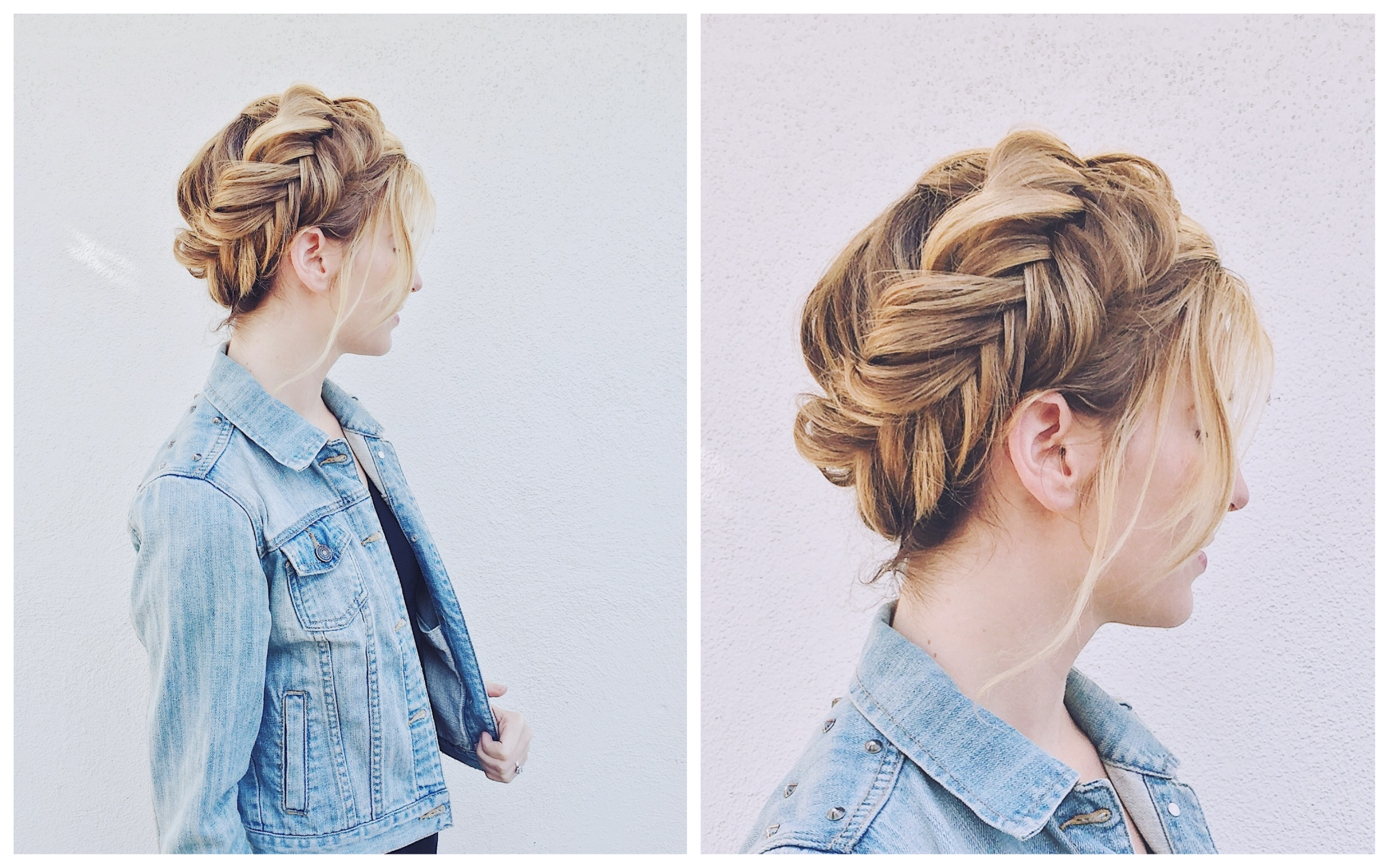 Dutch Fishtail Crown Braid
