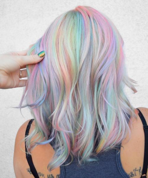 prend holographiques expression cheveux