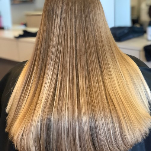 Silky Straight Blonde Hair