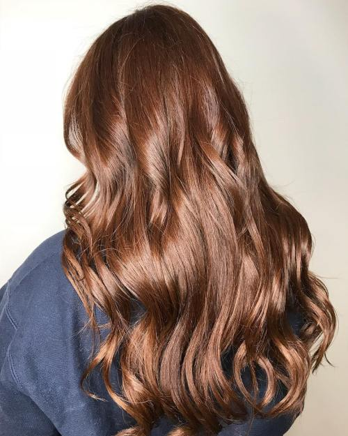 Shiny Chestnut Waves