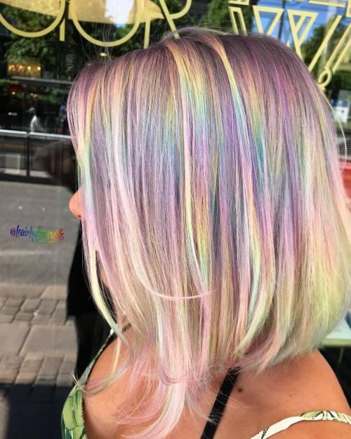 Pastel A Line Haircut