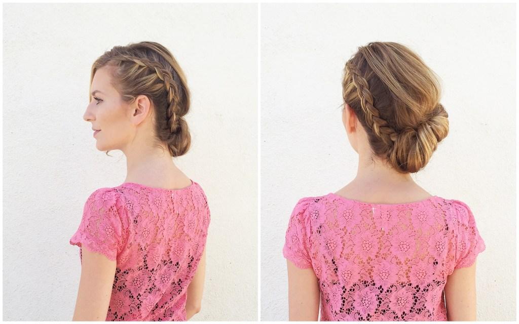 Asymmetrical Braid and Bun