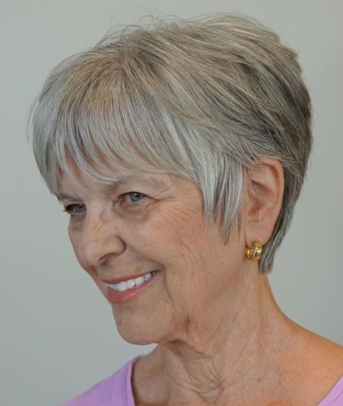 Short Pixie Haircut For Women Over 60
