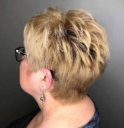 Tapered Feathered Pixie over 60