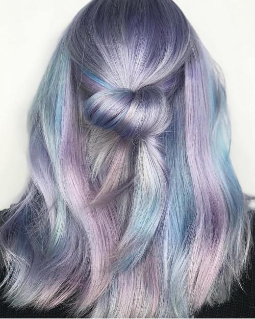 Half Up Metallic Hairstyle