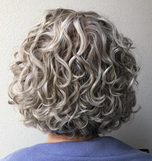 Short Curly Bob Hairstyle For Women Over 60
