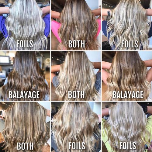 Foilyage vs Balayage Technique