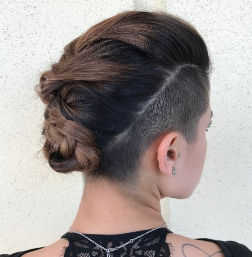 Long Hairstyle with Sides and Nape Undercut