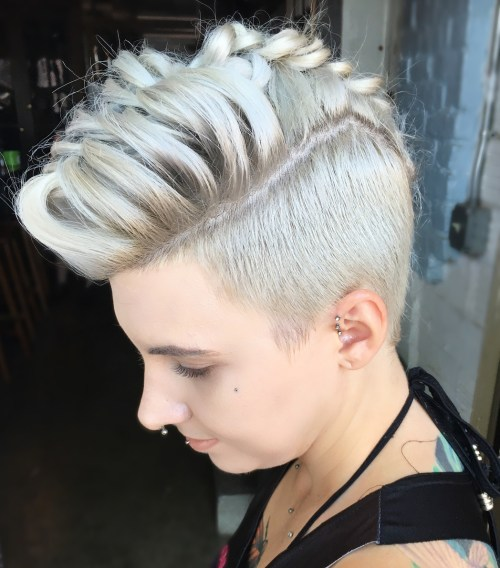 Pompadour Braid with Undercut
