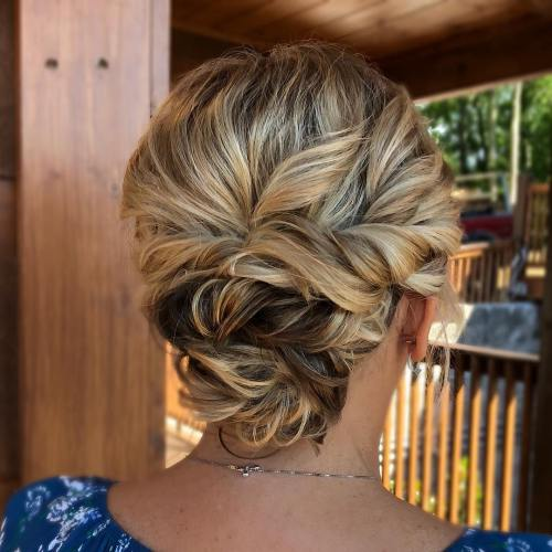 Twisted Low Updo For Wedding