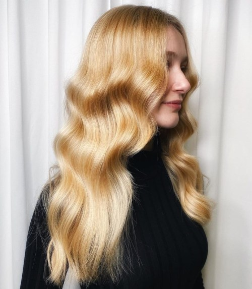 All Over Warm Blonde Hair Color