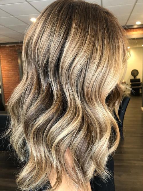 Beachy Wavy Dark Blonde Hairstyle