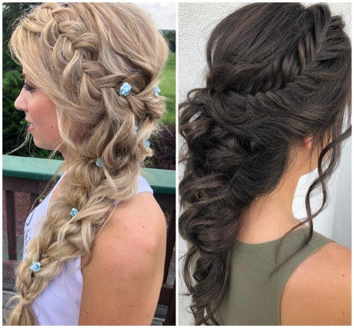 Cascading Elsa Braid Hairstyles