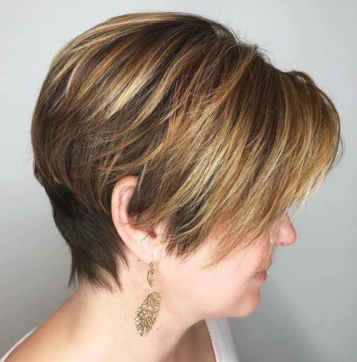 Short Angled Pixie for Straight Hair