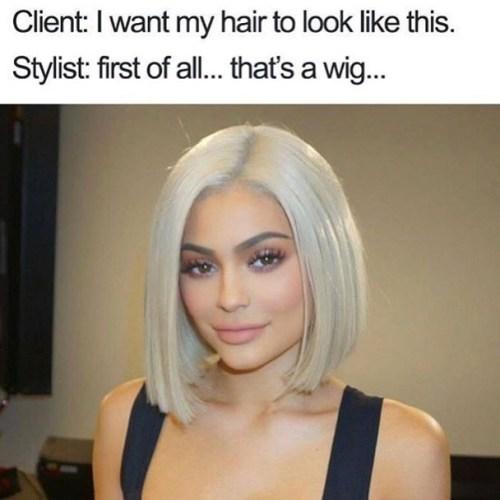 Kylie Jenner Wig Mem