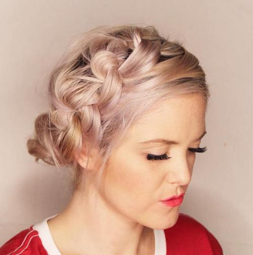 Side Updo With Messy Knots
