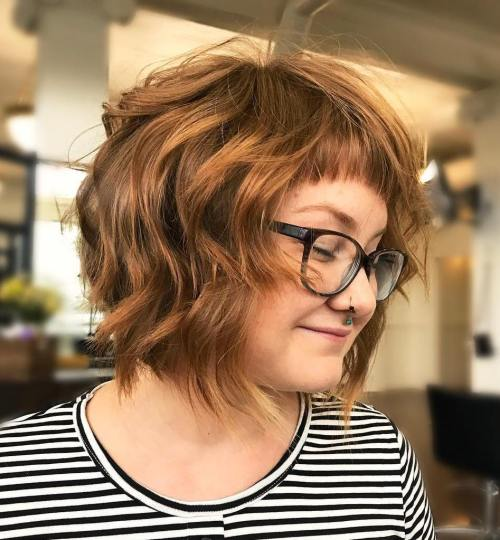 Tousled Bob With Short Cropped Bangs