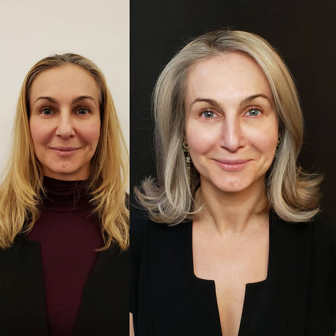 Anti-Aging Color And Haircut