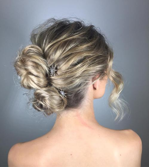 Textured Do With Double Mini Buns