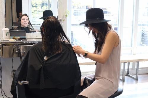 Womans Haircutting Process